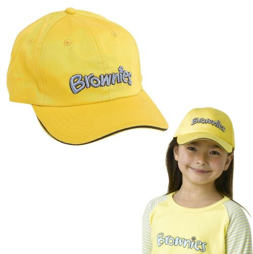 BRAND NEW BROWNIES BASEBALL CAP HAT BROWNIES GIRL GUIDES UNIFORM ONE SIZE UK