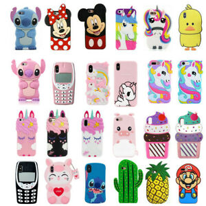 Cute-Disney-3D-Cartoon-Soft-Silicone-Phone-Case-Cover-For-iPhone4-5-6-7-8Plus-XR