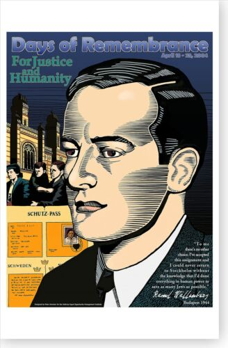 2004 Holocaust Days Of Remembrance Raoul Wallenberg Poster Free Ship
