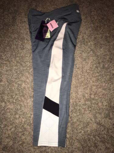 Pink Tangerine Color Block Active Capri Yoga Pants NWT Womens Small Gray