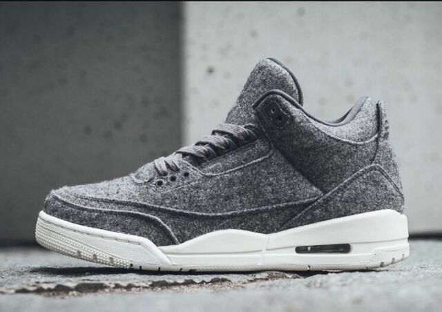 c900235fad58 Nike Air Jordan 3 III Retro WOOL Premium Sz 14 Dark Grey Sail White 854263-