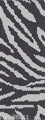 Zebra Peyote Cuff Beaded Bracelet Pattern by Karen Zumbrun