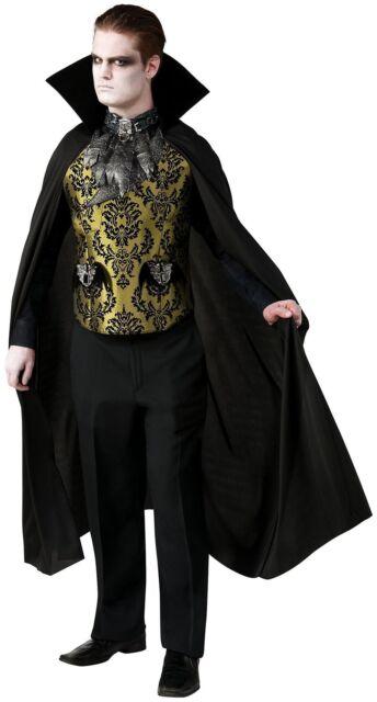 Vampire Gothic Adult Men/'s Costume Velvet Victorian Cape Halloween