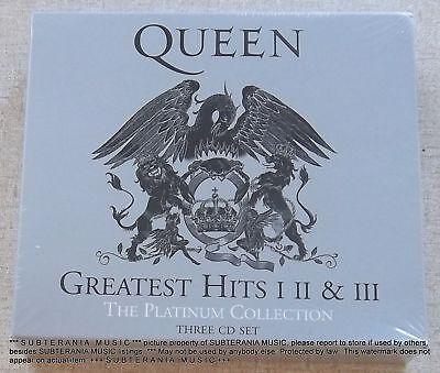 QUEEN GREATEST HITS I II III 3CD LTD ED USA SIGILLATO PLATINUM COLLECTIONS