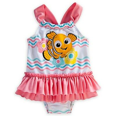 DISNEY STORE FINDING NEMO ADORABLE ONE-PIECE SWIMSUIT FOR BABY GIRL UPF 50+