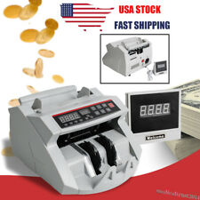 Money Bill Currency Counter Counting Machine Counterfeit Detector Uv Amp Mg Cash