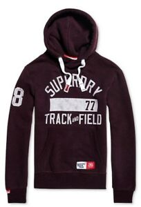 Details zu Superdry Men's Autumn Blackberry Marl Trackster Logo Graphic Pullover Hoodie