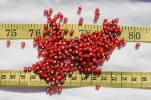 6-0-Antique-Dark-Red-White-Heart-Czech-Seed-Beads-Crafts-Jewelry-Making-1oz