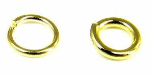 9ct-Yellow-Gold-Jump-Rings-Open-2-5mm-to-9mm-Heavy-amp-SUPERHEAVY-UK-Quality