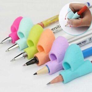 3x-Schueler-Stift-Bleistifthalter-Schreibhilfe-Grip-Haltung-Korrektur-Geraet-G5J8