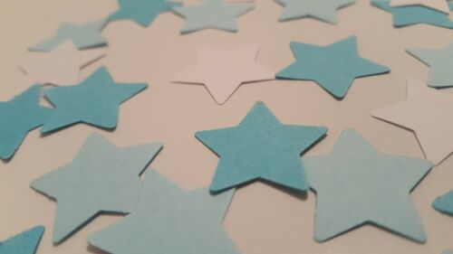 300 blue,light blue/&white table confetti birthdays//baby shower confetti