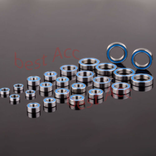 24PCS Bearing BLUE Rubber Sealed For Team Losi TEN-SCTE Ball Bearing Kit 1:10