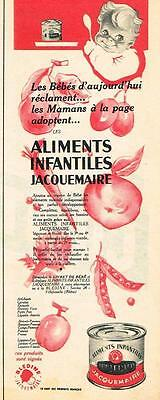 Breweriana, Beer Hearty Publicite Advertising 1957 Jacquemaire Bledine Aliments Infantiles 100% High Quality Materials Collectibles
