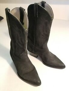 El Nopal Mens Black Suede Leather