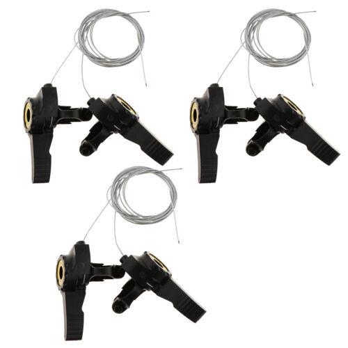 3Pcs 3x5//6//7 Thumb Shifter Solid Derailleur Cable Components Accessories