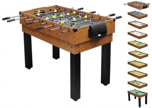 Umfangreicher Multifunktionsspieltisch Tischkicker-Multifunktionstisch 10 in 1