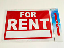 For Rent Sign 12x8 Weatherproof Plastic Apartments Houses Offices Free Ship Usa