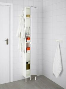 Ikea LILLANGEN Tall Bathroom Cabinet White with Mirror ...