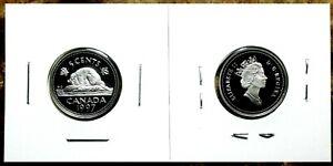 Canada-1997-Proof-Gem-UNC-Silver-Five-Cent-Nickel