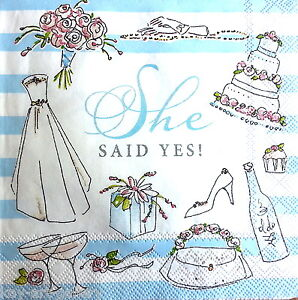 4 Vintage Table Paper Napkins for Decoupage Lunch Decopatch Craft  Blue Holland