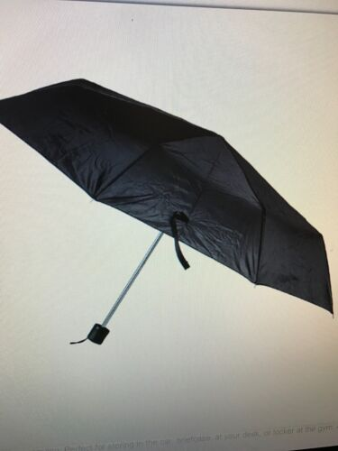 Trifold Black Umbrella Cheap  Mens//Womans Fast Free Ship4 Emergency Car