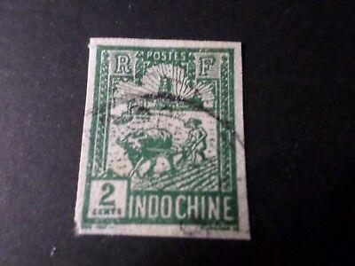 Offen Indochina,briefmarke 128 Nicht Gezahnt' Entwertet,verwendet Ex Französisch