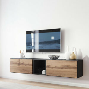 Details zu Wohnwand Teodor X TV-Lowboard Wohnzimmer-Set TV-Möbel Media  Hängeschrank