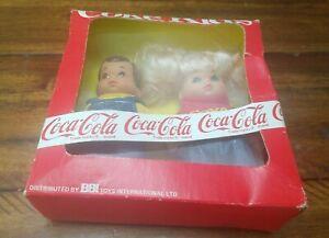 MIB-Coke-Kids-Coca-Cola-Dolls-Vintage-1986-Never-Opened-Girl-and-Boy-Set-RARE