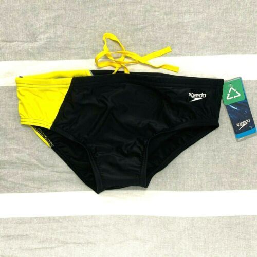 $44 Men/'s Boy/'s Competition Practice Lap Swim Brief Speedo Revolve Splice