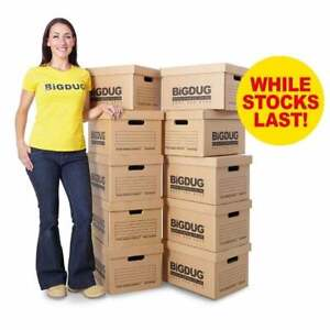 BiGDUG Cardboard Document/File Cardboard Archive Storage Boxes