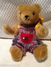 "❤ HERMANN HIKER SMALL SCHOOL BOY TEDDY BEAR 63/20/4 JOINTED 8""Gold Mohair ID's ❤"