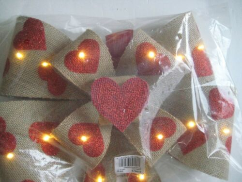 Celebrate Valentine/'s Day Together Light-Up Bow Wall Decor Color Natural $49.99