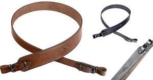Leather Shotgun Rifle Sling Sangle Fixations épaule De Tir Tactique De Chasse-afficher Le Titre D'origine Garantie 100%