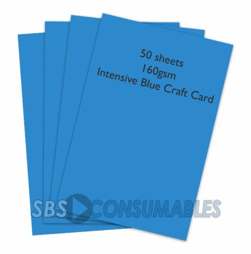 50 Hojas A4 160gsm Tarjeta de artesanía de color Clairefontaine intensivo Blue 1022