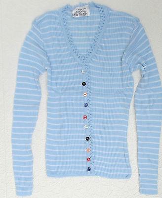 Vintage skinny jumper UNUSED knit ribbed pullover 1960s 1970s women teenager top