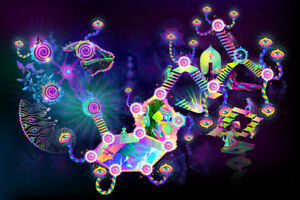 UV-Backdrop-Fluorescent-Glow-Tapestry-Psychedelic-Art-Banner-Psy-Wall-Hanging