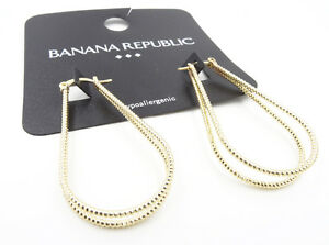 ef18f6149 New Pair of Beautiful Gold Tone Double Row Earrings from Banana ...