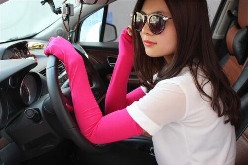 Colors 20 Cotton Newfangled Sunscreen Nice Cosy Fingerless Arm Long Gloves
