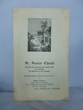 St Sennen Church - Land's End in Cornwall - 1954 Guide