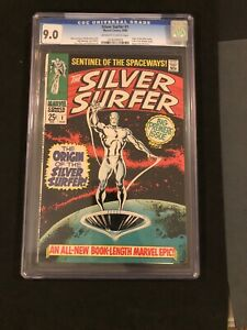 CGC-9-0-Silver-Surfer-1-KEY-Origin-of-Silver-Surfer-Begins-AMAZING-NO-RESERVE