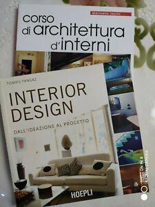 Corso Design D Interni.Dettagli Su Libri Interior Design Hoepli E Corso Di Architettura D Interni De Vecchi