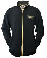 Guinness Fleece Zippered Top Mens Irish Dublin Ireland Embroidered Jacket
