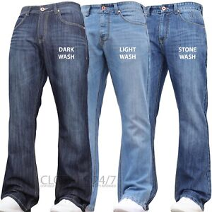 NEW-MENS-JEANS-BOOTCUT-FLARE-BLUE-FLARED-WIDE-LEG-WORK-KING-PLUS-ALL-WAIST-SIZES