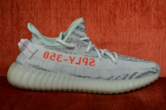 newest 36157 4d448 WORN TWICE Adidas Yeezy Boost 350 V2 Blue Tint B37571 Size 7