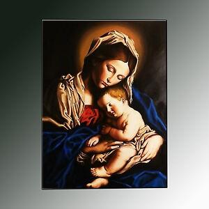 QUADRO-nativita-icona-dipinto-madonna-con-bambino-prodotto-italiano-pintura