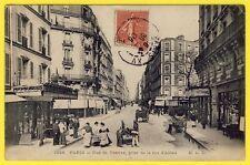 cpa 75 - PARIS Rue de VANVES prise de la Rue d' ALÉSIA Animée Blanchisseuses