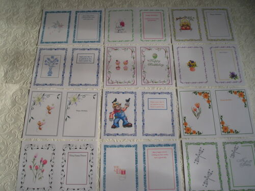 Cumpleaños tarjeta de saludo Insertos-Diseños Surtidos-A4-Impresos-partycascades