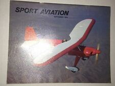 Sport Aviation Airplane Magazine GB-1 Special & Macbird Septeber 1974 121816rh