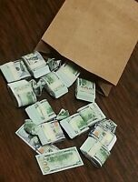 1/6 Scale Bag-o-money Miniature Toy Money. $100 Bills Gi Joe Barbie