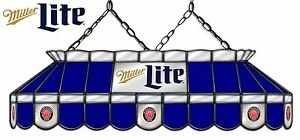 Marvelous Details About Miller Lite Beer Logo Billiards Stained Glass Big Mirror Pool Table Light Lamp Download Free Architecture Designs Viewormadebymaigaardcom